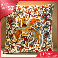 Customized decorative hand embroidery latest design cushion cover for hugging