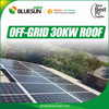 off grid 30kw 50kw 100kw solar system with solar panel inverter