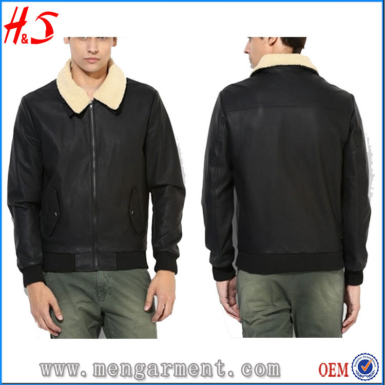 Textiles Leather Products New Fashion Design Biker Jacket Mens Leather Jacket