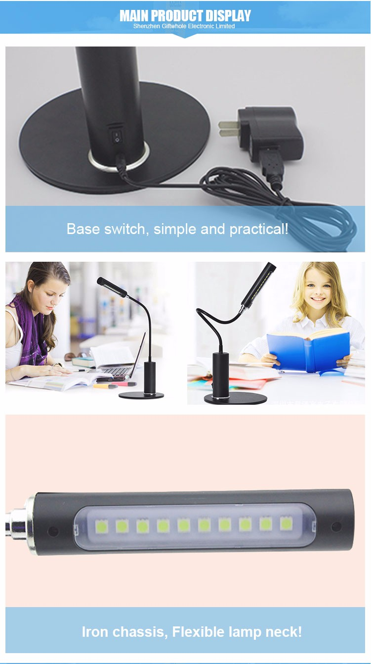 Top Selling Low Power Led Light Desk Table Reading Book Lamp