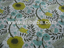 100% cotton indian jaipur sanganeri hand block printed vegetable color fabric