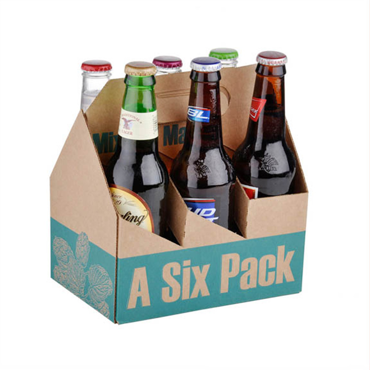 cheap custom glossy lamination printed corrugated cardboard beer box