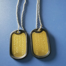 Dog tag aluminum stainless steel zinc