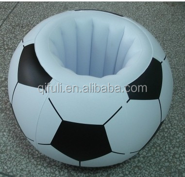 2017 Huizhou High Quality Inflatable Football Cooler PVC Ice Bucket