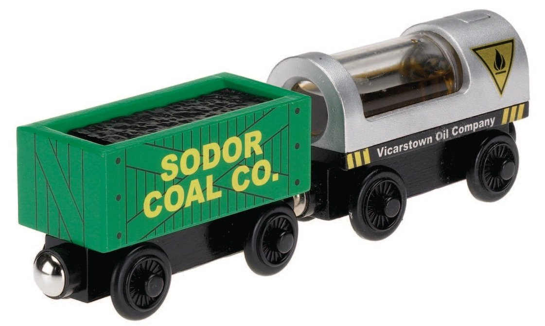 Fisher-Price Thomas the Train Wooden Railway Oil and Coal Cargo