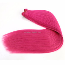 Wholesale fashion virgin brazilian hair extensions lovely pink human hair weaves