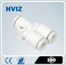 Manufacturers wholesale U type plastic quick connect pneumatic tee fitting