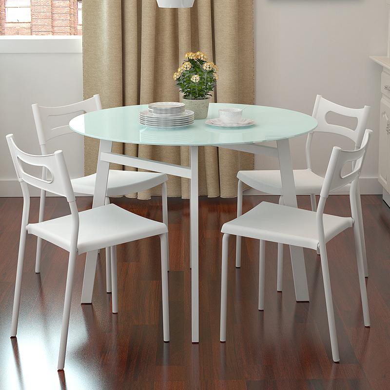 Ikea Glass Dining Table: Simple Small Apartment Chao Soil Fashion Round Glass