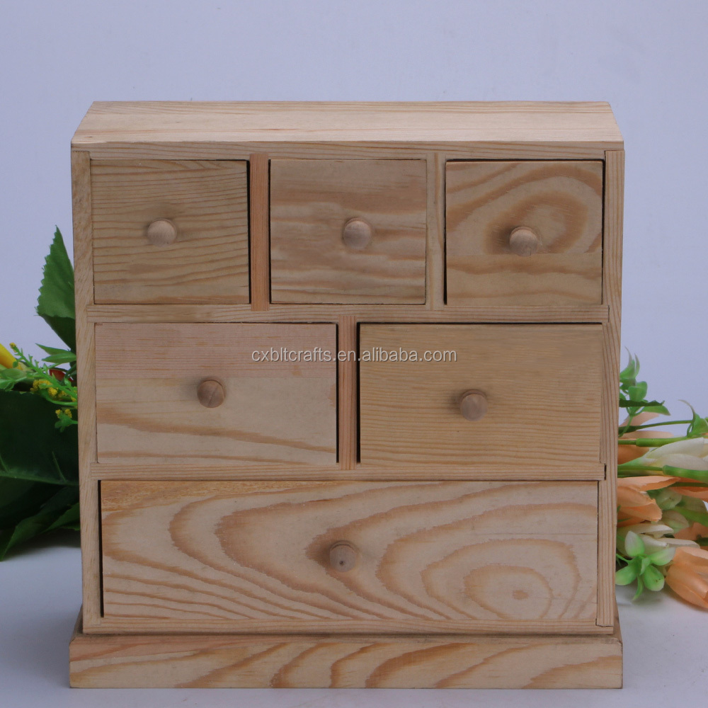 Large Layers Wooden Jewelry Boxes Multi Drawer Storage