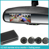 OEM Car Rearview mirror 4.3'' rearview backup camera monitor reversing Parking Sensor Radar