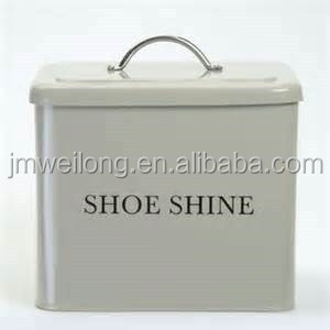 Garden Metal Shoeshine Storage Box/Rectangle Large Capacity Storage Box/Removable Lid