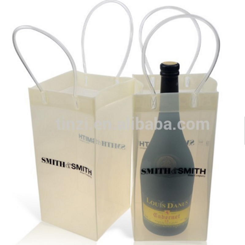 Ice Cube Bags Plastic Bag For Wine Bottle Cooler Product On