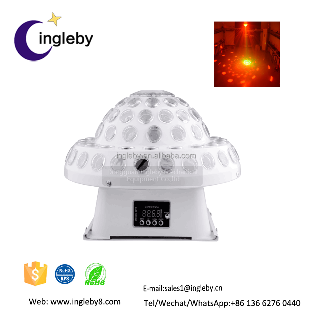 dongguan mushroom lighting dmx512 RGB crystal spot stage led lamp