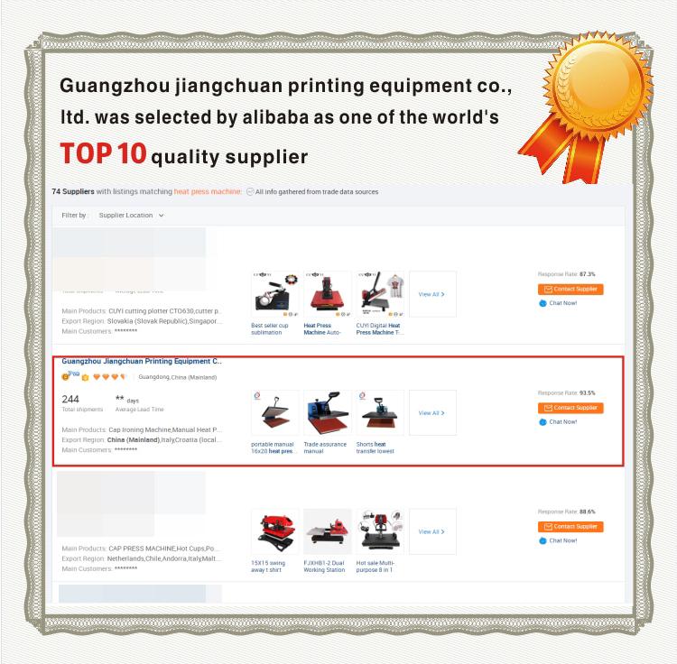 Jérsei de Jiangchuan Digitas 60 * 80cm ferro na máquina da imprensa do calor