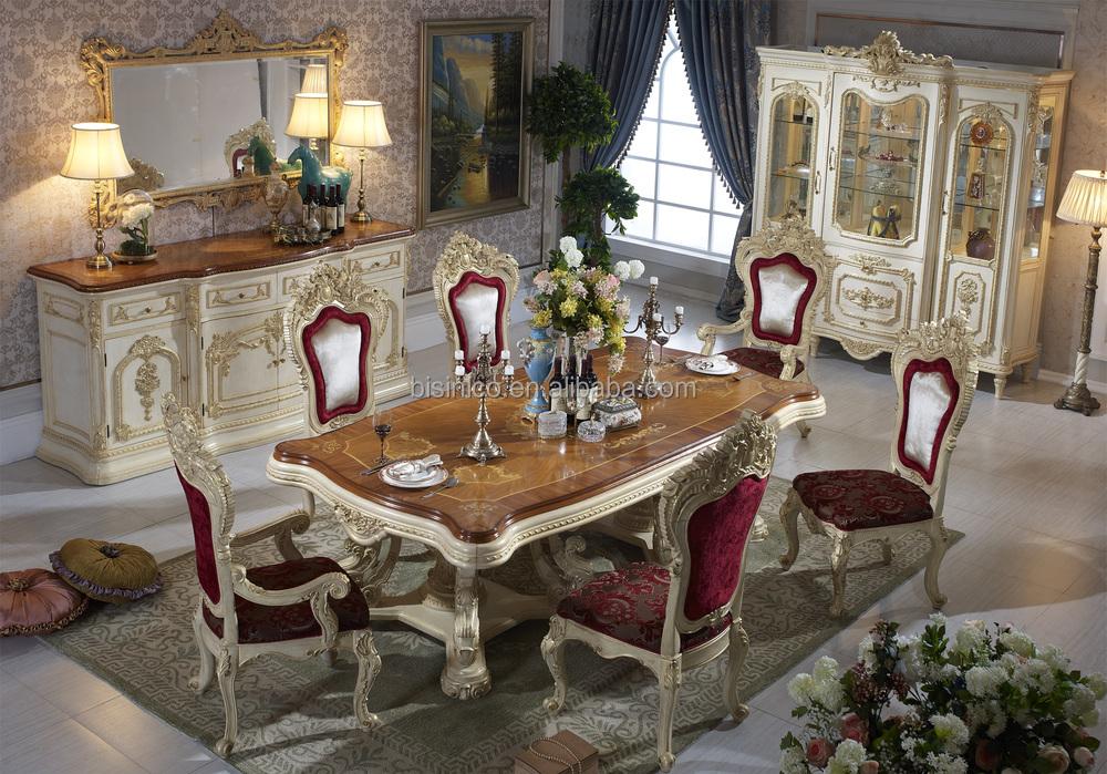 Bisini Luxury Italian Style Dining Table French Royal