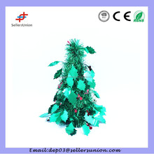 2015 PET moving Christmas decoration, mini crystal Christmas tree