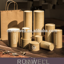 Round shape customized food gift cosmetic box cardboard tube packaging