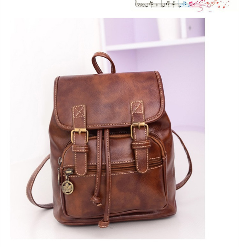 Fashion bag women PU leather backpack big bag 2 strap girls backpack for teenage girls school bags for teenagers women backpack