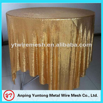 Luxurious China Supplier Aluminum Satin Table Cover