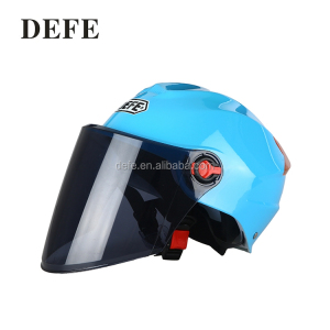 Safety motorcycle helmet blue summer helmet