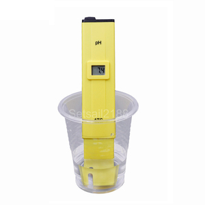 Digital Pen Type PH Meter Tester yellow red Portable Aquarium Pool Water Wine Urine LCD Monitor Accuracy 0.1 PH-009-107