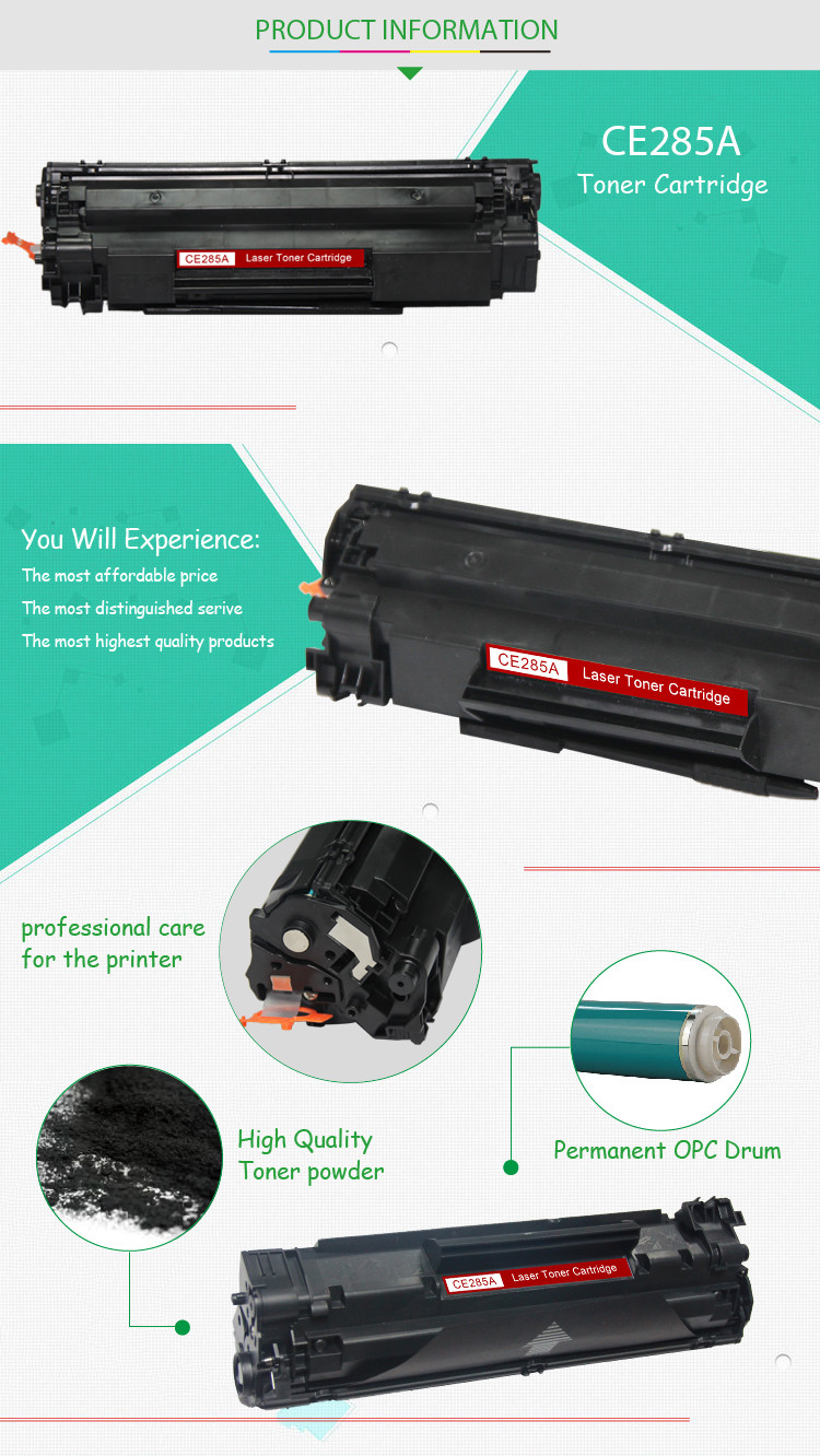 CE285A refill universal laser printer toner cartridge