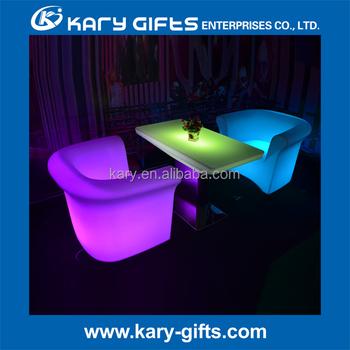 Glowing Led Bar Hookah Lounge Furniture