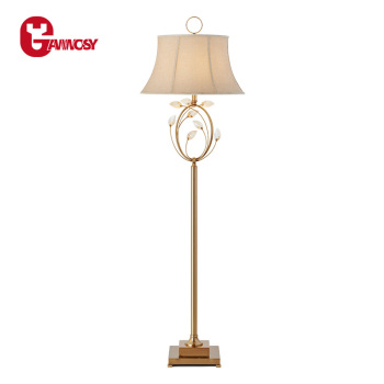 Retro European Style Antique Floor Lamp With Superior Quality Copper Creative Design Indoor Lobby Decorative Lighting