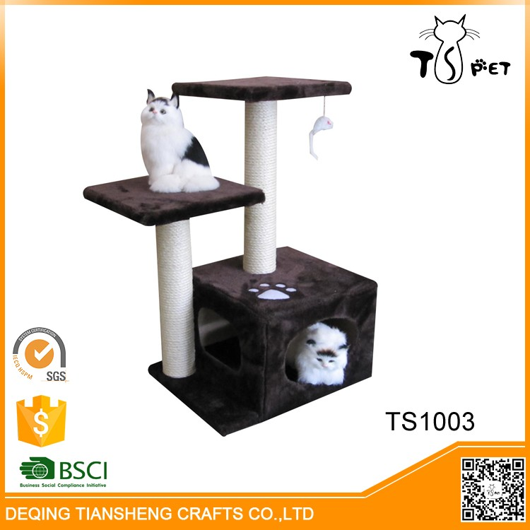 High-end Pet Products and Cats Application Double Color Sisal Cat Tree