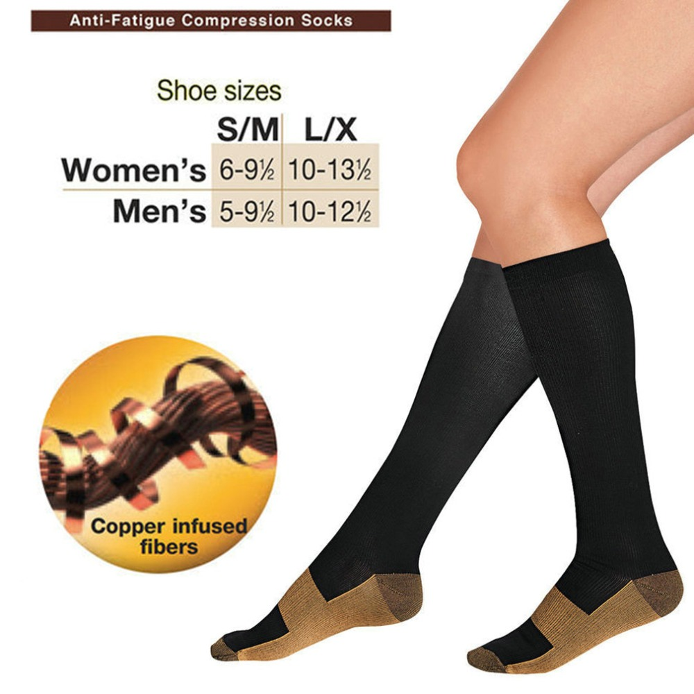 365fcaa0f Anti-Fatigue Compression Socks Unisex Foot Pain Relief Soft Miracle Copper  Anti Fatigue Magic Socks Support Knee High Stockings