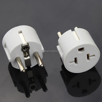 Heavy Duty Grounded USA American to European German Schuko Outlet Plug Adapter
