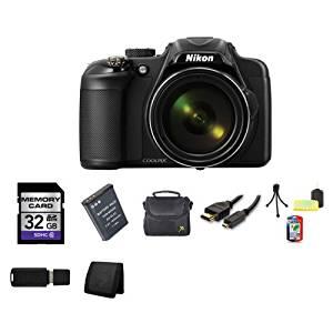 Nikon COOLPIX P600 16.1 MP Wi-Fi CMOS Digital Camera (Black) Bundle 4
