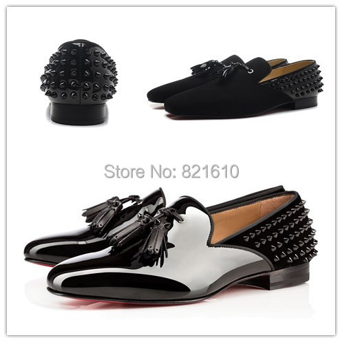 SEVENZAI Shoes Mens Spiked Dress Rivets Cool Designer Ballroom Oxford Shoes