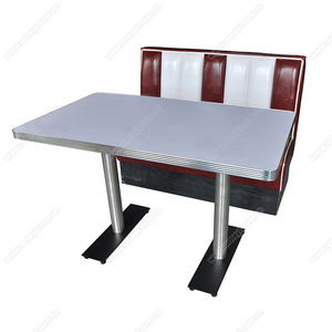 Astonishing Wholesale American 1950S Retro Diner Table And Booth Furniture Set Cheaper Midcentury Retro 1950S Restaurant Table And Booth Set Interior Design Ideas Gentotryabchikinfo