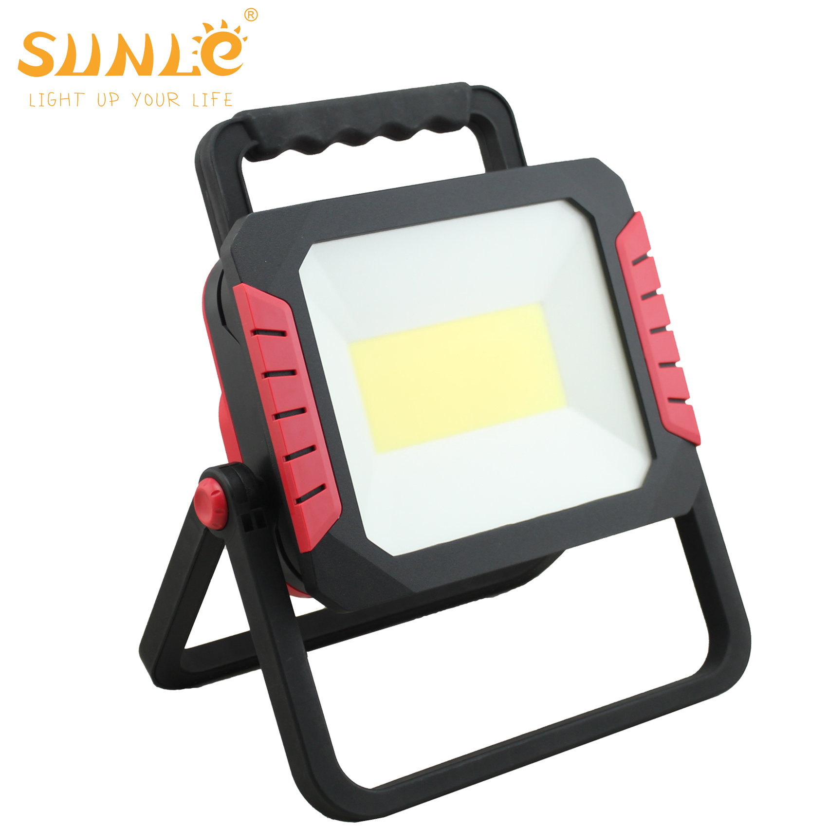 50W Small Portable LED Flood Light with Warning Flashing Camping Floodlight rechargeable led floodlight