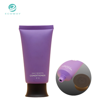 High quality hair conditioner plastic pe cosmetic tube with doctor cap