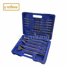 SDS drill bit set 17pcs sds plus drill bit and chisel set for granite and concrete