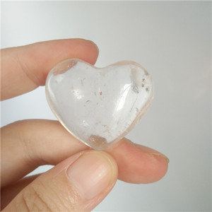 Small natural rock clear crystal hearts shape quartz stone heart for gift