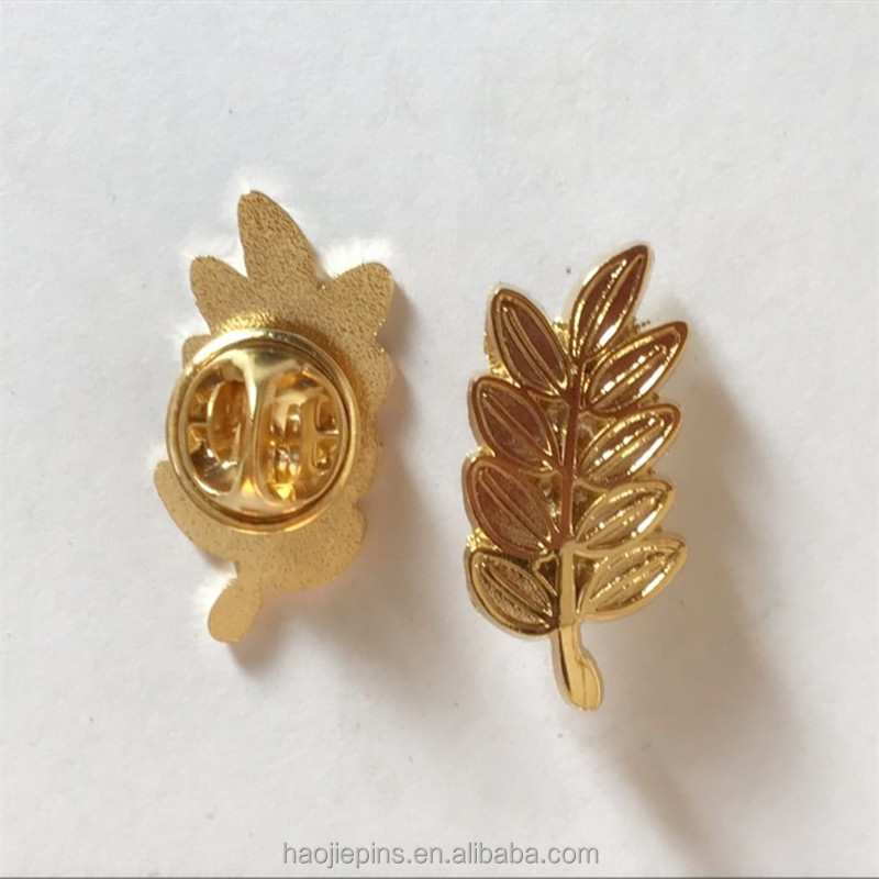 No Coloring Gold Metal Jewelry Lapel Pin