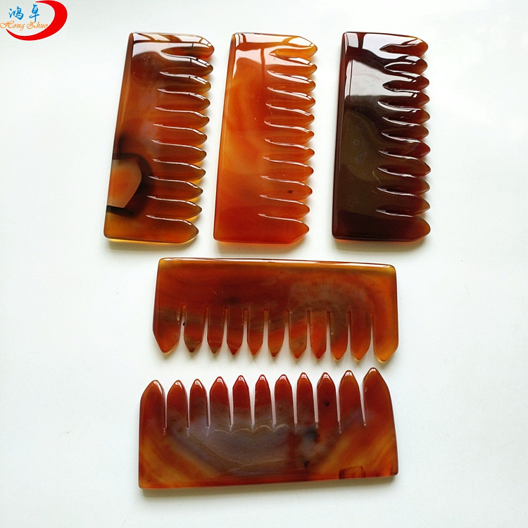 Chinese factory quartz Crystal Hair Combs for healing jade comb anti-wrinkles guasha treatment