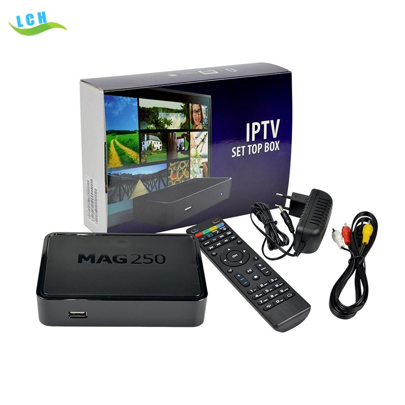Best selling product Arabic iptv set Top Box MAG 250 MAG254 Linux OS with indian italy channels