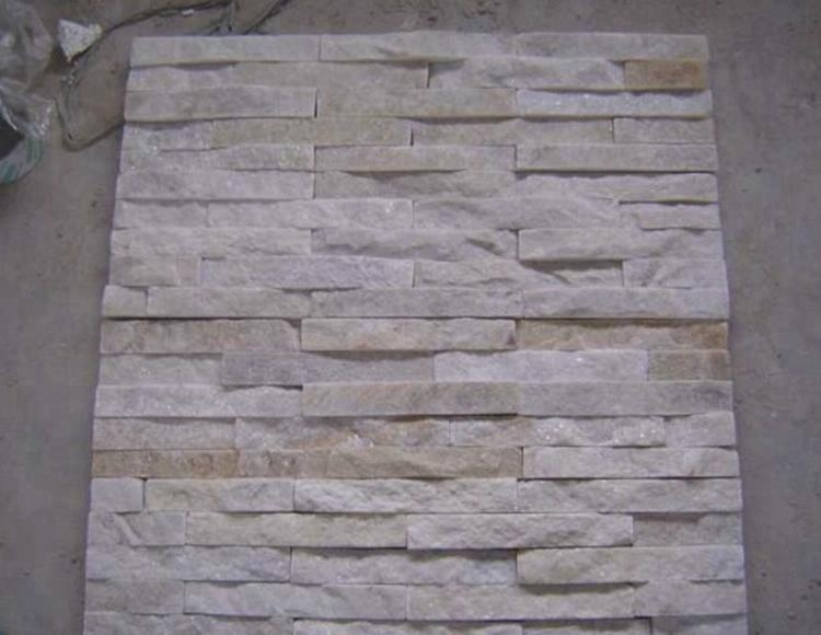 Manufacturer Exterior White Natural Culture Slate Stone Cladding Exterior Wall Tile