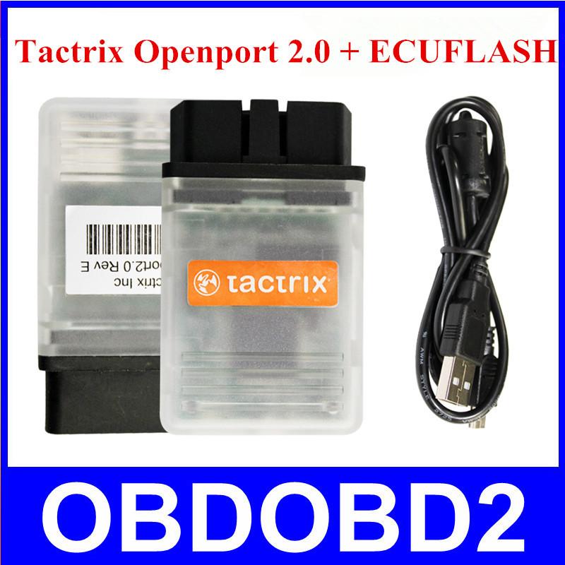 Авто экю вспышки OBD2 сканер Tactrix Openport 2.0 работы для различных марок автомобилей Tactrix мигающий Supprots OBDII протоколы