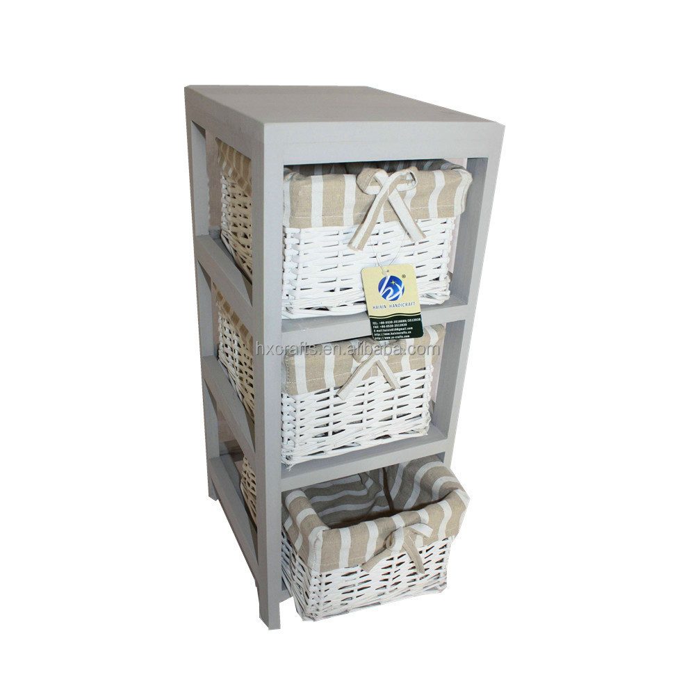 Wicker Basket Cabinet Slim Corner 3 Wicker Basket Storage Cabinet In Grey Buy Small