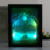 2018 hot sell decoration art frame LED light 3D paper craft frame home decoration frame