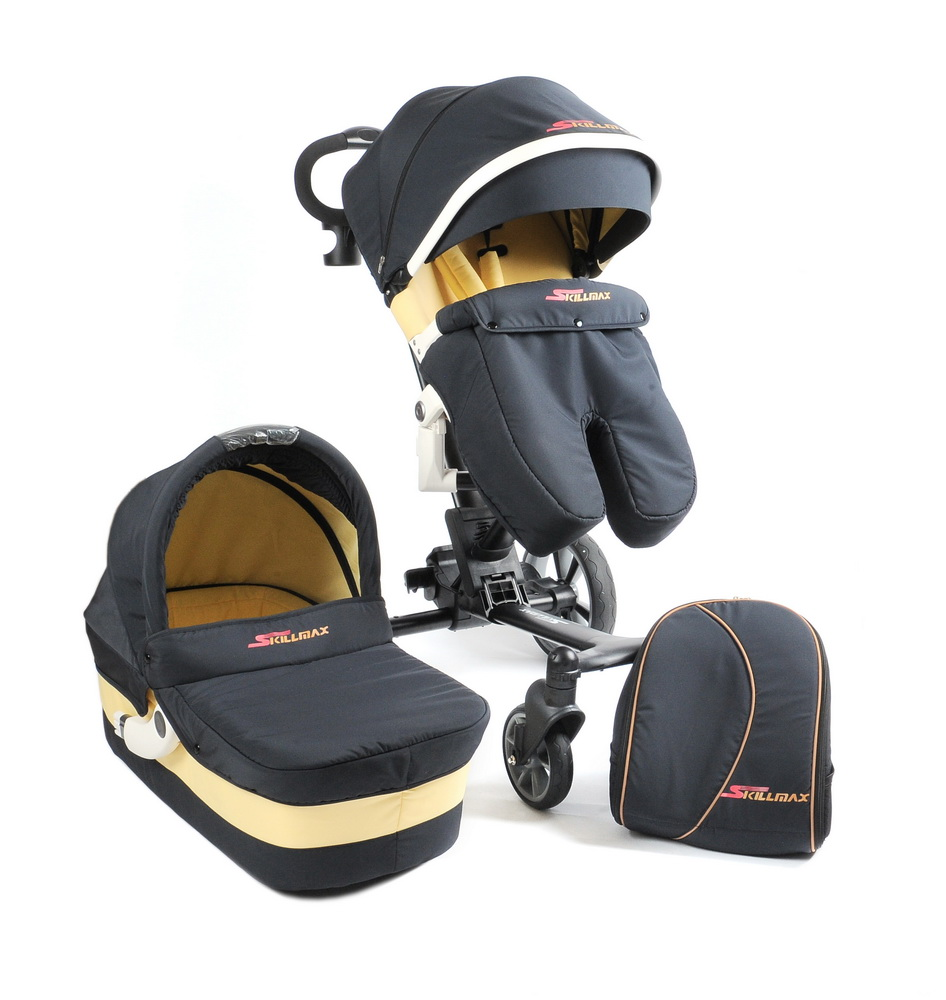 Skillmax 600D fabric deluxe baby stroller 3 in 1 for 0-4 years baby stroller