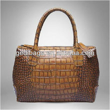 Sell! Chic Deluxe Crocodile Handbag New Year Christmas Gift Classic Grand Genuine Leather Stone Veins Hobo Superb Lady Handbag