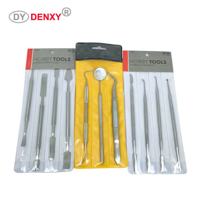 Denxy Dental Stainless Steel Dental Kits Dental Instruments Surgical Dental Hygiene sets Cleaning Teeth Tools