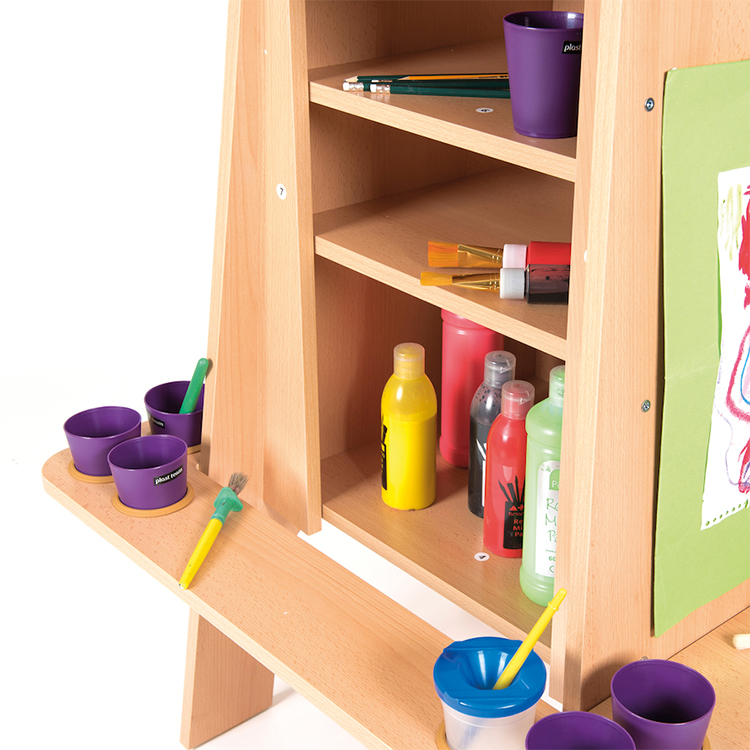 ... Three Sides Wooden Easel Stand Montessori Kids Drawing Board ...