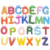 26 alphabets shape home decoration wooden magnetic fridge stickers